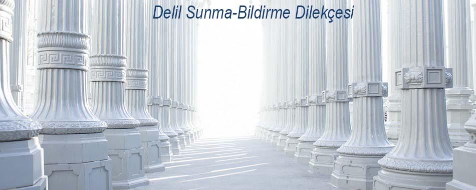Delil Sunma-Bildirme Dilekçesi